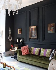 Is it black, charcoal or navy blue? We love using dark jewel-like colours, especially against contemporary furniture. • • • #colours #inspiration #interiorstyle #interiors #contemporarydesign #interiorinspo #interiordesign #decor #homedecor #homeinspo #interiorstyle #fashion #trends #masterclass #norwich #eastofengland #london #cambridge #theaestheticworks #residentialdesign #restaurantdesign #commercialdesign #bardesign