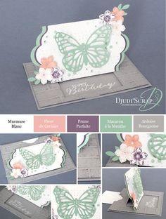 Tutoriel Carte Anniversaire Tirette « Thinlits Papillons »