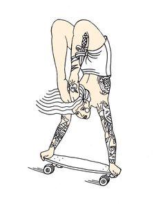 #girlsonwheels #ink #tatoo