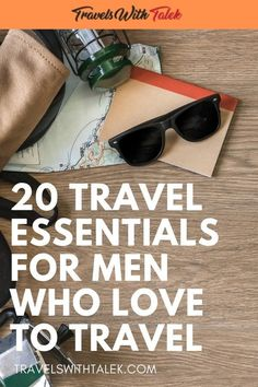 What are the best travel essentials for men? I've asked a diverse group of men, all frequent travelers, and the responses were remarkably similar. They ranged from luggage to cool gadgets to travel reference material. This survey of travel gear evolved i Travel Items, Travel Gadgets, Travel Products, Travel Deals, Travel Hacks, Travel Guides, Travel Destinations, Packing Tips For Travel, Travel Advice