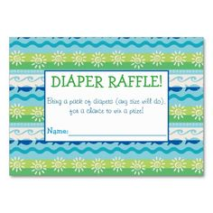 Summer Lovin' Diaper Raffle Tickets Large Business Cards (Pack Of Baby Sprinkle Games, Baby Sprinkle Invitations, Custom Baby Shower Invitations, Sprinkle Shower, Pack Of Diapers, Diaper Raffle Tickets, Baby Shower Fun, For Your Party, Business Cards