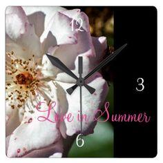 """Love in Summer"" Design Wall Clock"