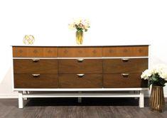 Gel Stained Bassett Mid Century Dresser | General Finishes Design Center