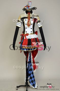 LoveLive! Maki Nishikino Cafe Maid Uniform Cosplay Costume, made in your own measurements