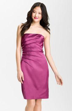 Adrianna Papell Sunburst Dart Satin Sheath Dress available at #Nordstrom $138