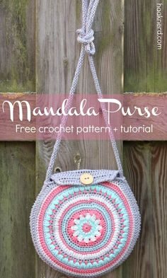 Free crochet pattern with a step-by-step photo tutorial for Mandala Purse via @haaknerd