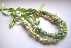 Bead and knot necklaces