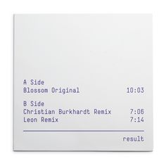"Result (Corporate design & 12"" record sleeves)"