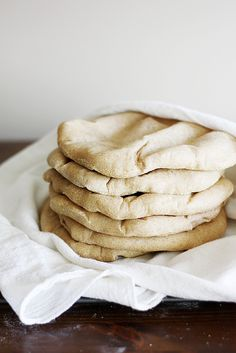 whole wheat pitas from @Stephanie Close Close Close Wise | Girl Versus Dough
