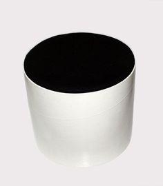 stool 'tubo', lacquered carton