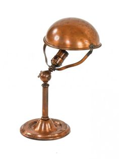 highly sought after early 1920's patented antique american industrial faries adjustable copper-plated task lamp with swivel socket - Lightin...