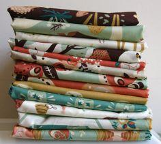 Organic Fort Firefly FAT QUARTER Bundle from Birch Fabrics on Etsy, $50.00