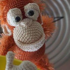 Oscar and his best banana breakfast...  http://ildikko-crochet.com/patterns/oscar-the-orangutan-amigurumi-pattern/