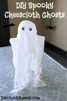 DIY Spooky Cheesecloth Ghosts!
