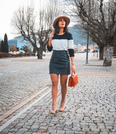 Visit Portugal, What I Wore, Denim Skirt, Girl Fashion, Girly, Skirts, Red, How To Wear, Black