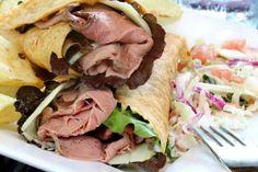 Roast Beef and Horseradish Wrap under 200 calories!