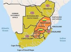 South African War - Maps - Map of Southern Africa showing the British Colonies and the Boer Republics Africa Map, East Africa, Historical Maps, Historical Pictures, Pretoria, Cape Colony, Le Cap, By Any Means Necessary, New York Life
