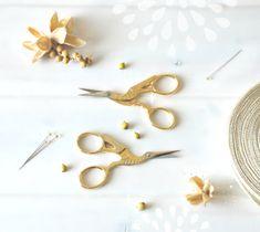 Embroidery Tools, Embroidery Scissors, Small Scissors, Felt Applique, Crane, Wool Felt, Textiles, Rainbow, Shapes