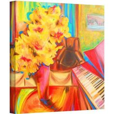 ArtWall Susi Franco Just Before Dinner Gallery-wrapped Canvas, Size: 24 x 24, Pink