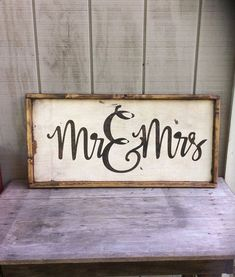 Mr and Mrs Wood Sign Wedding Sign His and Hers Sign #Woodsigns