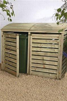 Wheelie bin storage. Found on next.co.uk