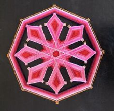 Mandalas tecidas em lã - Buscar con Google