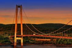 The High Coast Bridge Lappland, Golden Gate Bridge, Sweden, Beautiful Places, Spirit, Photos, Travel, Cover Pages, Pictures