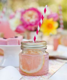 I already punch holes in mason jar lids for my kids to have their smoothees in but this is SO CUTE!!  Take a look at this Mason Jar Sippers - Set of 12 by ACME Party Box Company on #zulily today!