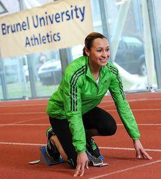 Jermain Defoe and Jessica Ennis at Brunel University Jessica Ennis, Team Gb, Olympics, Athlete, University, London, Community College, London England, Colleges