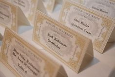 Robinson-Harry Potter theme place cards