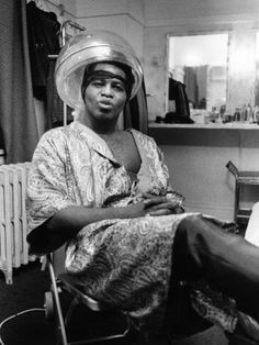 James Brown under the dryer.1968