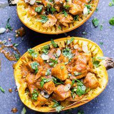 Spaghetti Squash Boat, Spaghetti Squash Recipes, Healthy Chicken Recipes, Easy Healthy Recipes, Turkey Recipes, Diabetic Recipes, Healthy Choices, Healthy Foods, Keto Recipes