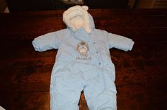 Baby Blue Snowsuit - 3 to 6 Months - Hedgehog Ears in Baby, Clothes, Shoes & Accessories, Boys' Clothing (0-24 Months) | eBay