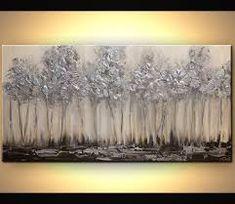 Výsledek obrázku pro silver abstract paintings