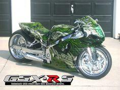 2003 GSXR 750   Custom Green