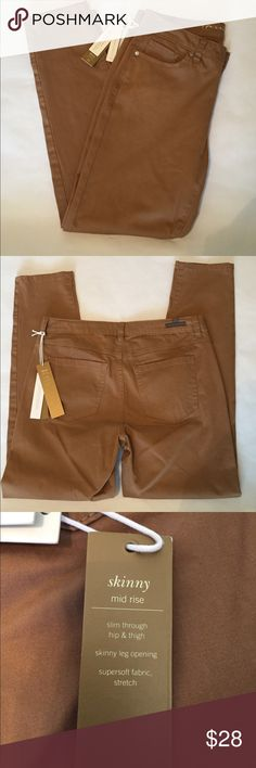 🆕 Lauren Conrad skinny jeans Great skinny jeans by LC Lauren Conrad, rich caramel color. Mid rise cut,  slim fit thru hips and thighs, skinny leg opening, super soft stretch fabric. 98% cotton/2% spandex. LC Lauren Conrad Jeans Skinny