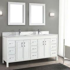 "Corniche 75"" White Double Sink Vanity By Studio Bathe"