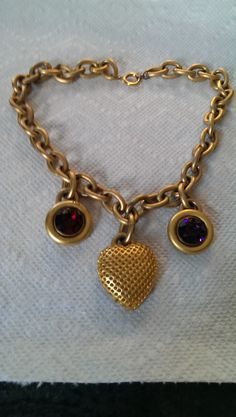 Get your 80s on! Linda Levinson heart necklace available at www.etsy.com/shop/vintagecouturejewels
