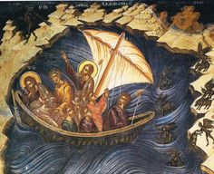 Christ rebuking the wind and the sa, from Ioannina, Philantropion Monastery, c 1531