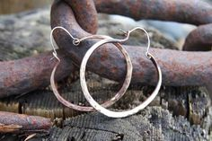 Rustic Bronze Hoop Earrings--the Options are Endless!  tutorial