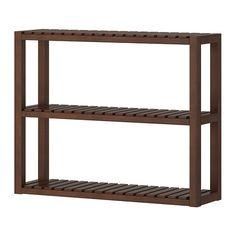 MOLGER Étagère murale - brun foncé - IKEA 29 €