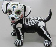 mexican illustration skeleton dog - Google Search
