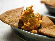 The Best Holiday Party Dips... Start your holiday celebrations off right with the best dip recipes that will keep holiday guests dipping for more. Red Pepper Hummus with Toasted Pita Triangles-Recipe courtesy of Robin Miller Teelie Turner Shopping Network - Google+ www.teelieturner.com