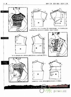 Sewing pattern blouse top