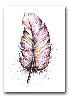 Ansichtkaart Veer roze - Lilly is Love Bd Design, Bujo, Family Photos, Bullet Journal, Drawings, Illustration, Animals, Christmas Carol, Feathers