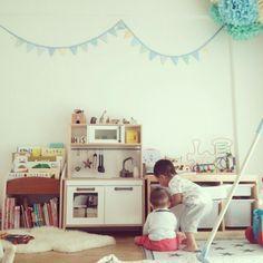 sksk_777さんの、部屋全体,IKEA,子供部屋,おままごとキッチン,ガーランド,3Coins,キッズルーム,トロファスト,絵本棚,シュライヒ,ペーパーポンポン,ボーネルンド,デザインレターズ,のお部屋写真