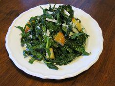 Kale Ribbon Salad with Parmesan & Garlic Vinaigrette