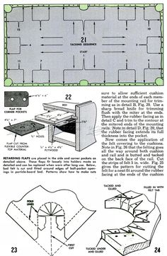 #3070 DIY Pool Table - Woodworking Plans