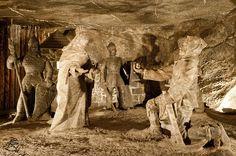 Wieliczka Salt Mine, sculptures in salt rock