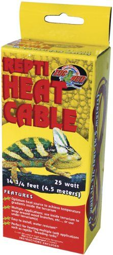 Zoo Med Reptile Heat Cable 25 Watts, 14.75-Feet Zoo Med